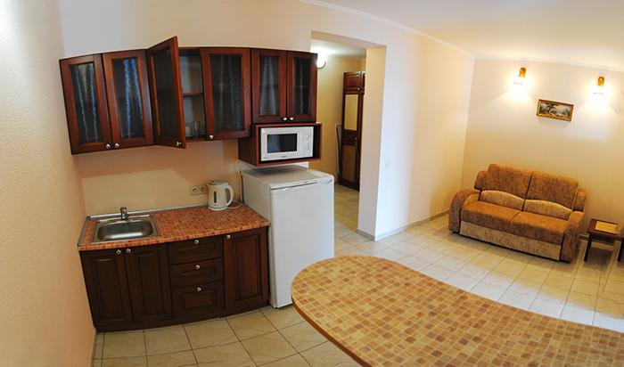 апартамент 2х комнатный 2 раздельные  кровати апарт отель Даваско