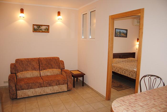 апартамент 2х комнатный 2хспальная кровать апарт отель Даваско